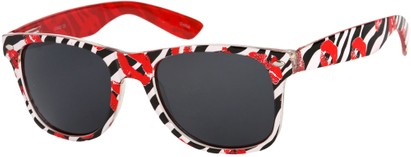Angle of SW Zebra Kiss Retro Style #5220 in Red/Black, Women's and Men's