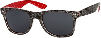 Angle of SW Peace Out Style #6300 in Black/Red Multi Daisy Frame, Women's and Men's