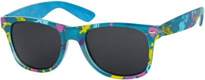 Angle of SW Peace Out Style #6300 in Blue Paint Splatter Frame, Women's and Men's