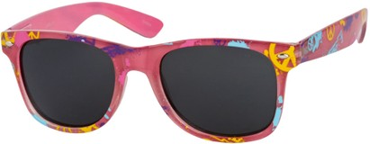 Angle of SW Peace Out Style #6300 in Pink Paint Splatter Frame, Women's and Men's