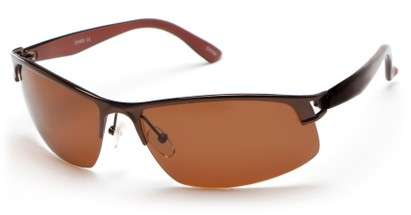 Angle of Transient #1369 in Bronze Frame with Brown Lenses, Men's Sport & Wrap-Around Sunglasses
