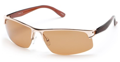 Angle of Transient #1369 in Gold Frame with Amber Lenses, Men's Sport & Wrap-Around Sunglasses