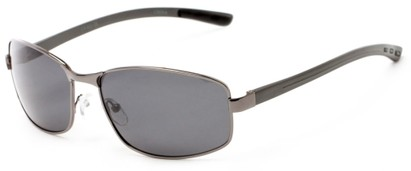 Angle of Limestone #1444 in Grey Frame with Grey Lenses, Men's Square Sunglasses