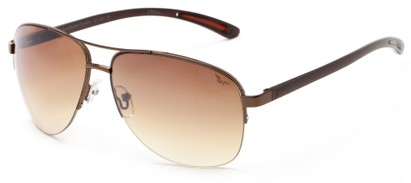 Angle of Bridgeport #1314 in Bronze Frame with Amber Lenses, Women's and Men's Aviator Sunglasses