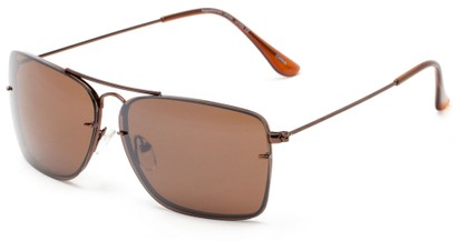Angle of Bridger #1507 in Bronze Frame with Amber Lenses, Women's and Men's Aviator Sunglasses