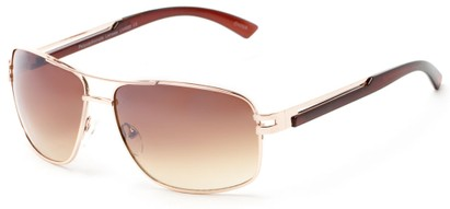 Angle of Sutton #1578 in Gold/Brown Frame with Amber Lenses, Women's and Men's Aviator Sunglasses