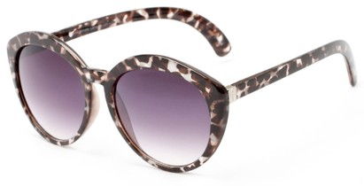 Angle of Pickwick #1663 in Grey Tortoise Frame with Smoke Lenses, Women's Cat Eye Sunglasses