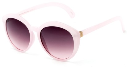 Angle of Pickwick #1663 in Pale Pink Frame with Rose Lenses, Women's Cat Eye Sunglasses