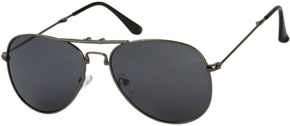 Angle of Getaway #9240 in Grey Frame with Grey Lenses, Women's and Men's Aviator Sunglasses