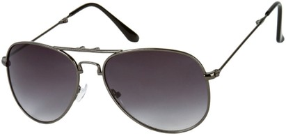 Angle of Getaway #9240 in Grey Frame with Smoke Lenses, Women's and Men's Aviator Sunglasses
