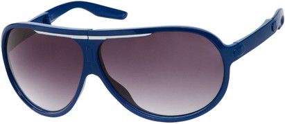 Angle of SW Folding Oversized Style #3807 in Blue/White Frame with Smoke Lenses, Women's and Men's Aviator Sunglasses