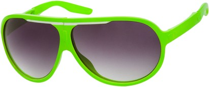 Angle of SW Folding Oversized Style #3807 in Green/White Frame with Smoke Lenses, Women's and Men's Aviator Sunglasses