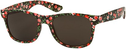 Angle of SW Floral Retro Style #2434 in Black/Red Floral, Women's and Men's