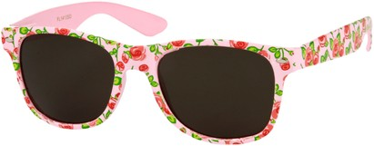Angle of SW Floral Retro Style #2434 in Pink/Red Floral, Women's and Men's