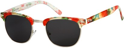Angle of SW Floral Retro Style #9929 in Pink Multi Floral/Silver Frame, Men's Select... Select...