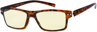Angle of SW Flexible Computer Style #3448 in Glossy Brown Tortoise, Women's and Men's