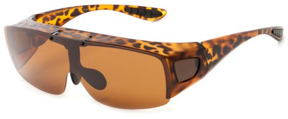 Angle of Sonoran #7668 in Matte Tortoise with Amber Lenses, Women's and Men's Square Sunglasses