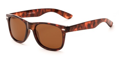 Angle of Buoy #14644 in Tortoise Frame with Amber Lenses, Women's and Men's Retro Square Sunglasses