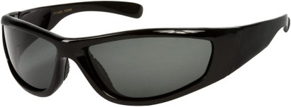 Angle of Creek #2049 in Black Frame, Women's and Men's Sport & Wrap-Around Sunglasses