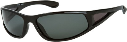 Angle of Sabbatical #8899 in Black Frame with Grey Lenses, Women's and Men's Sport & Wrap-Around Sunglasses