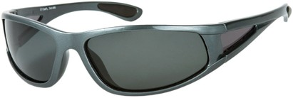 Angle of Sabbatical #8899 in Grey Frame with Grey Lenses, Women's and Men's Sport & Wrap-Around Sunglasses