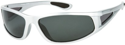 Angle of Sabbatical #8899 in Silver Frame with Grey Lenses, Women's and Men's Sport & Wrap-Around Sunglasses
