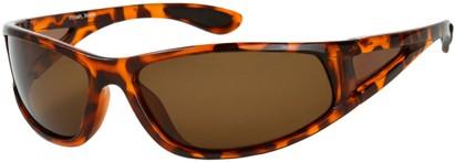 Angle of Sabbatical #8899 in Tortoise Frame with Amber Lenses, Women's and Men's Sport & Wrap-Around Sunglasses