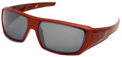 Angle of SW Sport Style #72 in Red Frame, Women's and Men's