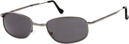 Angle of SW Folding Style #1203 in Grey Frame with Grey Lenses, Women's and Men's