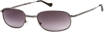 Angle of SW Folding Style #1203 in Grey Frame with Smoke Lenses, Women's and Men's