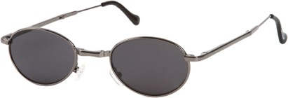 Angle of SW Folding Round Style #1205 in Grey Frame with Grey Lenses, Women's and Men's