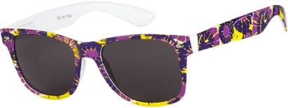 Angle of SW Retro Style #1409 in Purple/Yellow Floral, Women's and Men's
