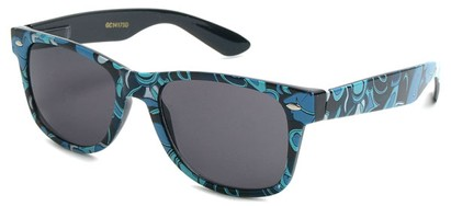 Angle of SW Retro Style #1409 in Blue Paisley, Women's and Men's