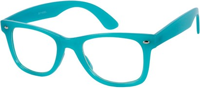 Angle of SW Neon Glow in the Dark Clear Style #2004 in Neon Blue Frame, Women's and Men's