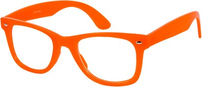 Angle of SW Neon Glow in the Dark Clear Style #2004 in Neon Orange Frame, Women's and Men's