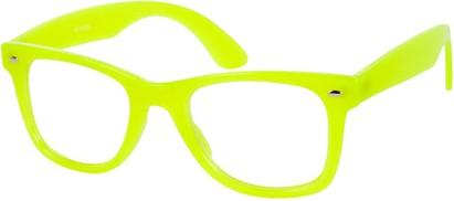 Angle of SW Neon Glow in the Dark Clear Style #2004 in Neon Yellow Frame, Women's and Men's