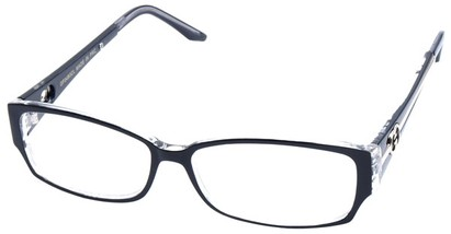 Angle of SW Clear Style #2900 in Black Frame, Women's and Men's
