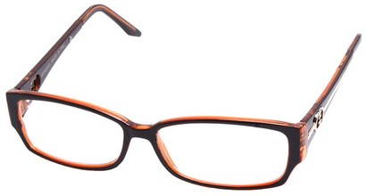 Angle of SW Clear Style #2900 in Brown and Orange Frame, Women's and Men's