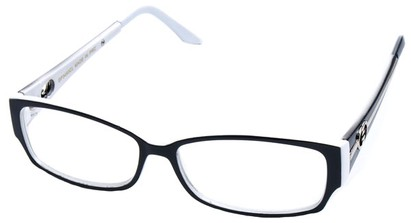 Angle of SW Clear Style #2900 in Black and White Frame, Women's and Men's