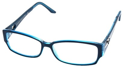 Angle of SW Clear Style #2900 in Blue Frame, Women's and Men's