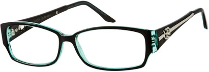 Angle of SW Clear Style #2900 in Black and Blue Frame, Women's and Men's