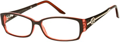 Angle of SW Clear Style #2900 in Black and Red Frame, Women's and Men's