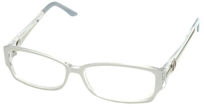 Angle of SW Clear Style #2900 in White Frame, Women's and Men's