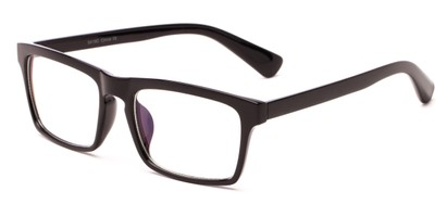 Angle of Gage #5419 in Black Frame with Clear Lenses, Women's and Men's Retro Square Fake Glasses