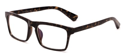 Angle of Gage #5419 in Grey Tortoise Frame with Clear Lenses, Women's and Men's Retro Square Fake Glasses
