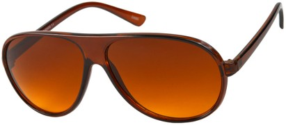 Angle of Driver #8450 in Brown Frame with Copper Lenses, Men's Aviator Sunglasses