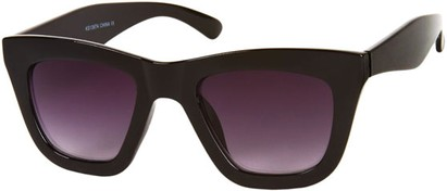 Angle of SW Retro Style #3005 in Black Frame with Smoke Lenses, Women's and Men's