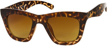 Angle of SW Retro Style #3005 in Tortoise Frame with Amber Lenses, Women's and Men's
