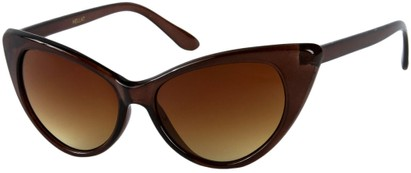Angle of Catalina #9122 in Brown Frame, Women's Cat Eye Sunglasses