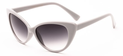 Angle of Catalina #9122 in Grey Frame, Women's Cat Eye Sunglasses